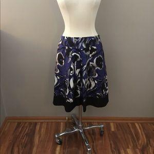 Ann Taylor Multicolored Pattern Skirt